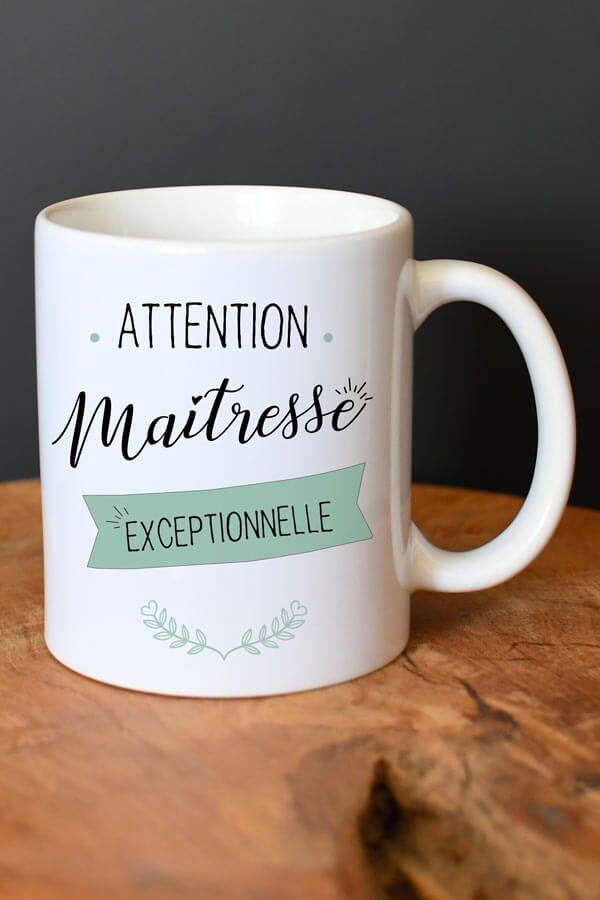 """mug en céramique """"maîtresse exceptionnelle"""""""