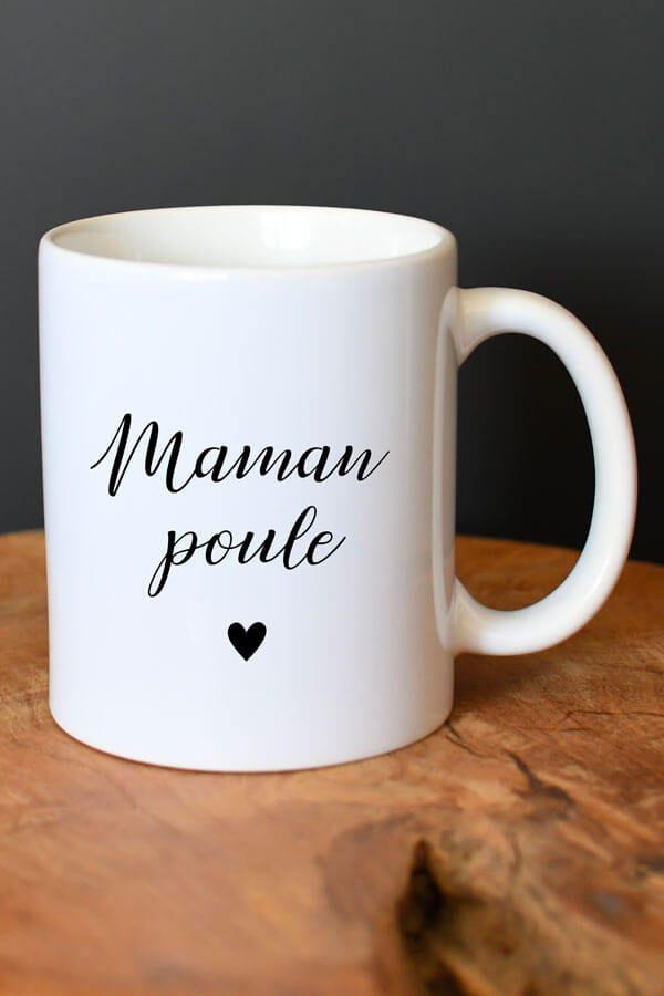 """mug en céramique """"maman poule"""""""