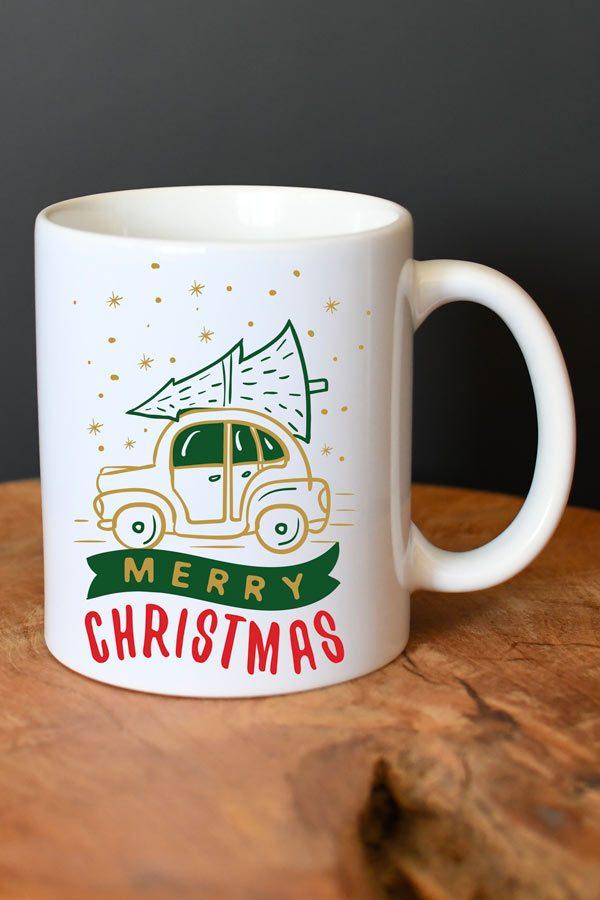 Mug de Noël personnalisé Merry christmas