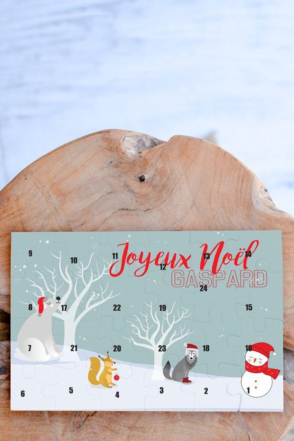 puzzle de l'avent personnalisé joyeux Noel
