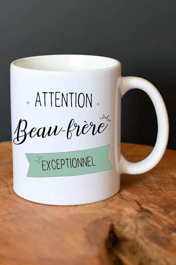 """Mug personnalisé """"beau-frère exceptionnel"""""""